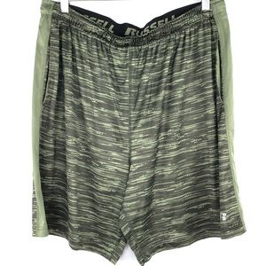 Russell Olive Green Shorts Men Athletic Sport XL